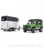 Bruder-02592 Camión de Transporte Caballos Land Rover Color Negro (Black) 67 Centimeters (2592)