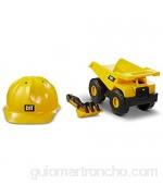Caterpillar- Camion Volquete Cat 25 cm Vehiculo de construccion Color Amarillo (Funrise International 82061)