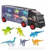 m zimoon Juguete de Camión con Dinosaurio Camión del Transporte del Dinosaurio con 12 Juguete del Dinosaurio Educativo Dinosaurios Plásticos para los Niños