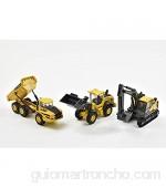 New Ray- Caja de 3 máquinas de Trabajo Volvo Window Box 32095 Color Amarillo