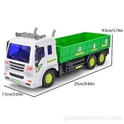 WXGY Auto a Control Remoto – Grúa de Basura con fricción de Juguete 1: 16 camión de sanidad de Cuatro vías con Luces y Sonidos para niños