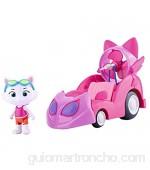 44 Gatos - Milady con vehículo coche rosa Milady incluye figura articulada (Smoby 180211)