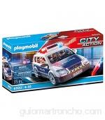 PLAYMOBIL- City Action Playset Coche de Policía con Luces y Sonido Multicolor (6920)