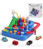 Umitive Pista de Coches para Niños Cars Juguetes de Aventura Playsets con Ciudad Rescate Pista Juegos Interactivos Montessori Educativo para Niños 3 4 5 6 7 8 años (Small)