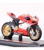 Auto Modelo 1:18 Escalas 1199 Modelo De Bicicleta Diecast Y Vehículos De Juguete Motocicleta Juguete 2014 Regalo Rider Miniatura