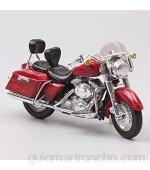 Auto Modelo Escala 1:18 Custom Road King Cruiser Bike Diecast Vehicle Street Motorcycle Toy Réplicas De Regalos para Niños