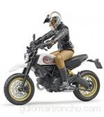 Bruder 63051 Ducati Desert Sled - Moto con Motociclista