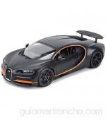 Bleyoum Auto Modelo 1:18 Chiron Sports Black Static Die Cast Vehículos Coleccionables Modelo De Coche Juguetes