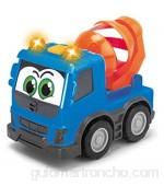 Dickie Toys Happy Series-Volvo FMX Vehículos de Construcción para niños a Partir de 1 año Volquete Hormigonera o Camión Contenedor 13 cm Modelos y Colores Aleatorios 203811006