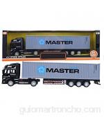 Evonecy Juguete de camión contenedor extraíble fácil de operar Exquisito Juguete Modelo de camión de construcción simulación(Gray Cargo Truck)