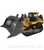 Excavadora RC profesional cargador de metal 1/16 con luz y efecto sonido 2.4G pala de aleación inalámbrica modelo de construcción vehículos de construcción tractor de juguete adulto niño regalo