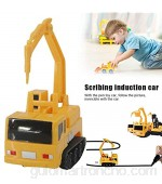 Metyere Magic Pen Inductive Car Truck Follow Any Draw Line Pen Track Toy Engineering Education Kids Gifts