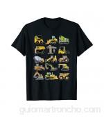 Niños Excavadora Carretilla Elevadora Camión Volquete Hormig Camiseta