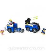 PAW Patrol Chase Split-Second 2 en 1 Transforming Police Cruiser Vehículo con 2 Figuras coleccionables