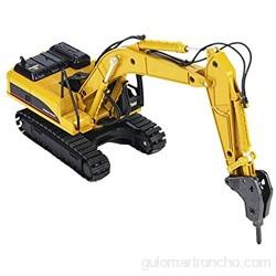 VGEBY1 Juguete de Modelo de Excavadora 1: 50 sobre orugas Excavadora Modelo de construcción de ingeniería Juguete de vehículo de automóvil