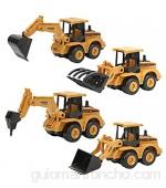 YOUTHINK 4 Piezas de Simulación de Excavadora Deslizante de Juguete de Ingeniería Modelo de Vehículo Juguetes Niños Regalo para Niños Camión de Ingeniería (Vehículo de Ingeniería de Juguete)(Car)