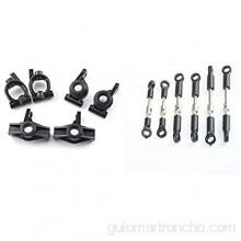 easy to use For 1251 de la rueda delantera del asiento 1252 del asiento de la rueda trasera 1253 asiento en forma de C Tie Rods ENLACE Conjunto tirón Rod 144001 1/14 durable in use ( Color : Black )