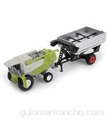 JINSUO GWTRY Granja clásica del Coche del vehículo de Remolque agrícola Harvester cisternas de Transporte Camión Tractor Modelo Juguetes for niños Muchacho Oyuncak Regalo (Color : 3)