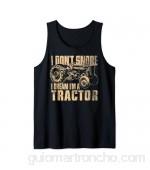 No ronco Sueño que soy un tractor Divertido tractor agrícola Camiseta sin Mangas