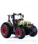 OYZK 1: 32 Tractor aleación Modelo de simulación de Granja Mecánica Juguete de los niños del Regalo de cumpleaños del Tractor (Color : Verde)