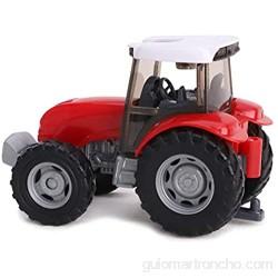TOYLAND® - Juego de Tractor y camión Cisterna / Remolque de 22 5 cm - Acción de Rueda Libre - Juguetes de Granja para niños (Petrolero Rojo)