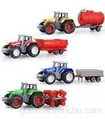 Tractor para Niños Vehículos De Ingeniería Simulados Tractor Agrícola De Deslizamiento Modelo De Coche De Aleación Juguete De Granja 30 5 X 20 X 5 Cm