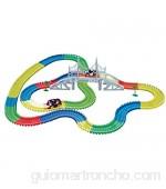 Amewi Rennbahn Teile Magic Traxx-Pista de Carreras (373 Piezas 5 50 m con Caja de Almacenamiento) Color (100615)