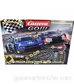 Carrera GO!!! Race UP! - Juego de Pista eléctrica de Carreras (9 m con Audi RS 5 Rockenfeller y BMW M4 Eng con 2 Controles manuales y Piezas de trayecto para niños a Partir de 6 años y Adultos