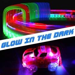 Circuito Coches Canicas Pista de Coches Luminosa Flexible Pista Cars Coche Juguete Niños 3 4 5 6 Años