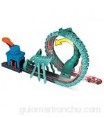 Hot Wheels City Ataque del escorpión pista de coches de juguete incluye 1 vehículo (Mattel GTT67)