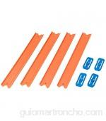 Hot Wheels Track Builder Pack de 4 pistas rectas accesorios para pistas de coches (Mattel CCX79)