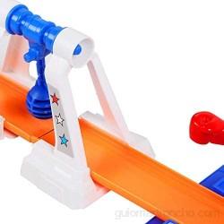 SALUTUYA Track Pass Game Set Juego de Carreras de Coches de Juguete para niños Mayores de 2 años