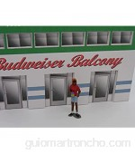 F837 - Greenhills Scalextric Carrera Standing Female with Drink Can Spectator 1.32 Scale - New