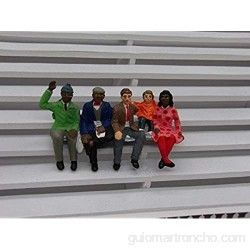 Greenhills F701 Scalextric Carrera Group of 5 Hand Painted Seated Spectators 1.32 Scale - New
