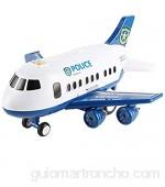 DWNGKJJ Juguete de avión Juego de Juguete de avión de Transporte Regalo Juguetes educativos de educación temprana para niños y niñas de 3 a 12 años (Azul)