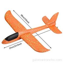EKKONG Avion Planeador Planos de Espuma Aviones de Juguete para niños Deportes Al Aire Libre Volar Juguete (4 Pcs )