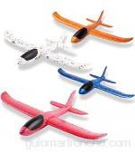 JunziWing Modelos manuales de avión de 4 Piezas Que lanzan Juguetes Deportivos al Aire Libre para un Juego desafiante Regalo de cumpleaños avión de Juguete para niños y niñas