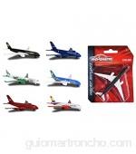 Majorette 212053120 Avión de pasajeros 13cm Modelos/Colores Aleatorios 1 Pieza
