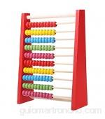 Ábaco Juguetes de ábaco de madera infantil juguetes matemáticas temprana matemáticas calculadora de juguetes de aprendizaje cuentagota contando juguetes para niños de desarrollo de inteligencia Red
