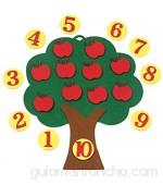 Juego de Cerebro Juguetes de matemáticas para educación temprana Juego de Manzano Juguetes educativos Digitales Rompecabezas de vellón Juguetes creativos jardín de Infantes matemáticas