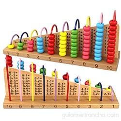 Multicolor madera ábaco soroban juguetes niños contar cálculo estante bloques montessori aprendizaje educativo matemáticas juguetes