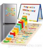XFDZSW MALL 2 en 1 Montessori Juguetes Magnéticos de Madera para Chico Juguetes Bebes Año Educativos Magnéticos para Niños Pequeños Niñas Niños 3 4 5 6 Años