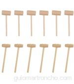 Cabilock 24 Piezas Mini Martillos de Madera Mazo de Cangrejo de Madera para Langosta Cangrejo Mazo de Langosta para Agrietar Mariscos Juguete Educativo para Niños Niñas Herramientas de