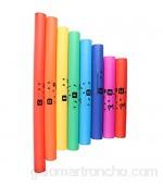 DSED Instrumento de percusión de 8 Piezas Tubo de Sonido de plástico Tubo multiplicador de frecuencia de Color Conjunto de Juguetes Musicales para niños
