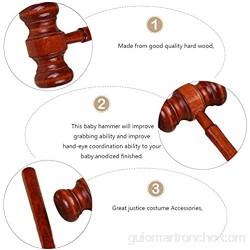 Gadpiparty 3 Piezas de Madera Judge Gavel Niños Simulan Jugar a La Ley Martillo de Juguete para Niños Subasta Mazo Pequeño Martillo de Madera para Niñas Niños