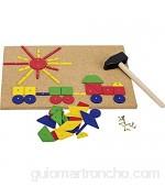 Goki- Puzzles de maderaPuzzles de maderaGOKIMartillo y Set de Clavos Multicolor (1)