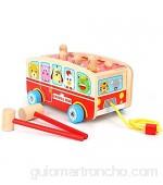 Juguete educativo para niños patrón de dibujos animados juguetes para bebés juguetes para niños martillos de madera juguetes educativos para educación temprana juguetes para bebés de