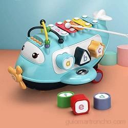 Martillando juguetes de golpeteo Martillo de juguete Instrumentos palpitación del Banco de juguete con martilleo de los juguetes del bloque 1 2 3 Años de Edad ( Color : Azul Size : 26.5x16.5x17cm )