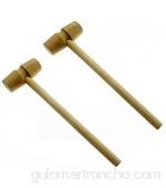 MZSM 2pcs Mini palo de madera martillo pastel chocolate mazo niños juguetes educativos