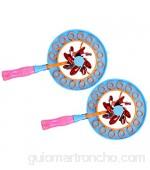 TOYANDONA 2 Piezas Molino Burbuja Varita Niños Burbuja Soplador Pinwheel Spinner Burbuja Hacer Soplar Juguete para Verano Patio Trasero Actividad Aire Libre Niños Niñas ( Color Aleatorio )